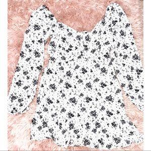 NWOT Flowy Black & White Mini Dress